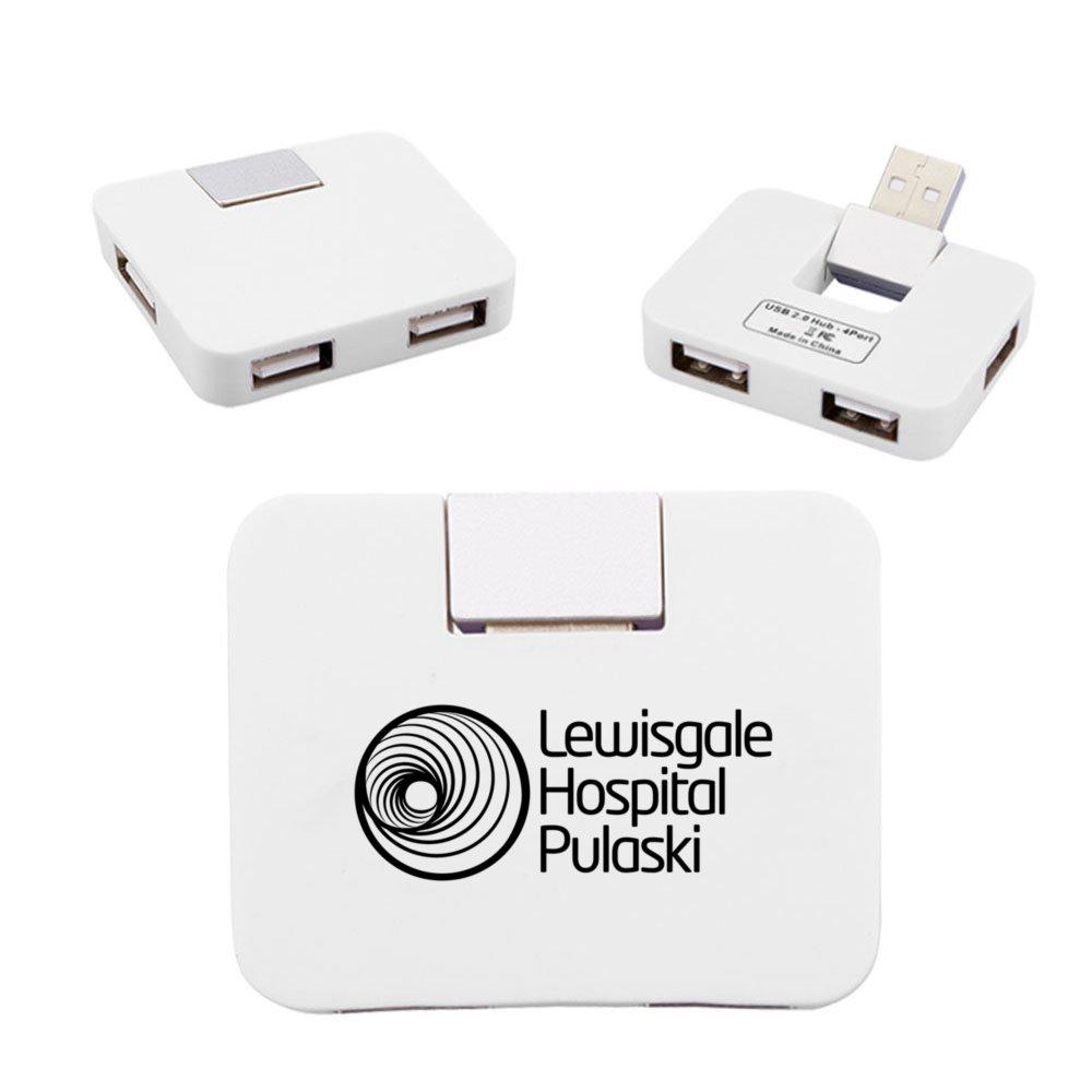4-Port Rectangular USB Hub