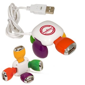 4 Port USB Swivel Hub