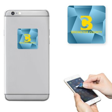 Smartphone Friendly Sticky Microfiber Cleaning Square
