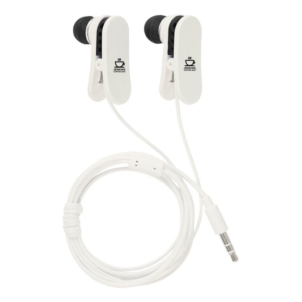 Ear Buds With Shirt Clips