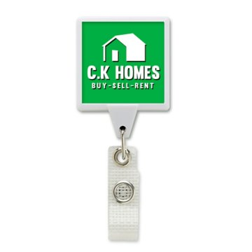 Anti-Microbial JUMBO Square Badge Reel