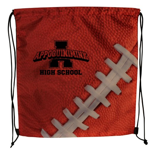 Sport Themed Drawstring Backpack - Football
