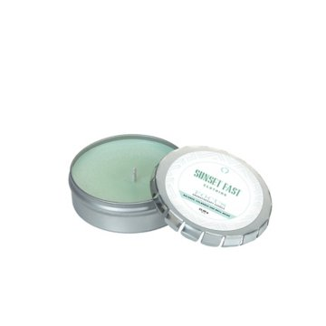 Aromatherapy Candle in Large Silver Push Tin