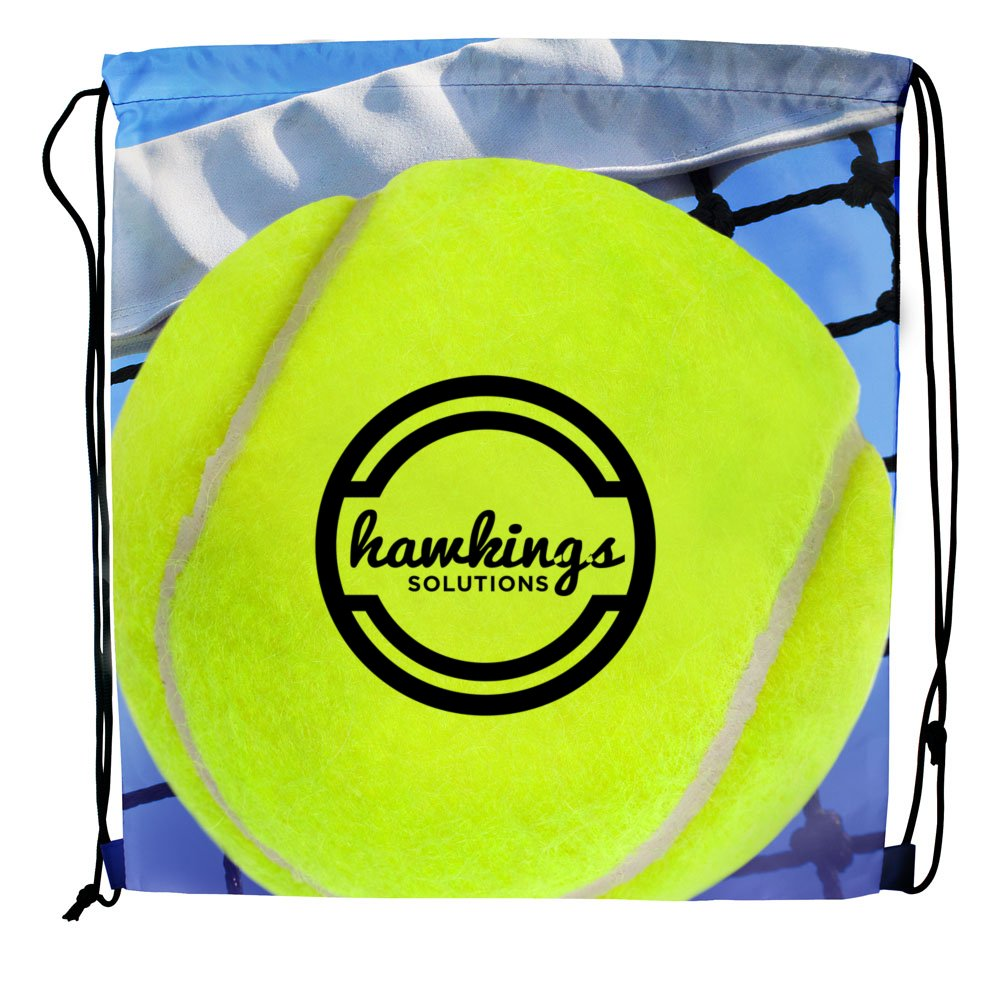 Sport Themed Drawstring Backpack - Tennis