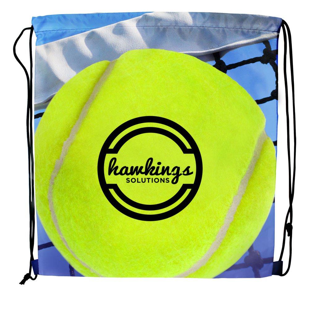 Sport Themed Drawstring Backpack - Tennis