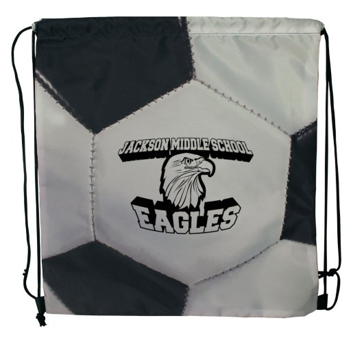 Sport Themed Drawstring Backpack - Soccer