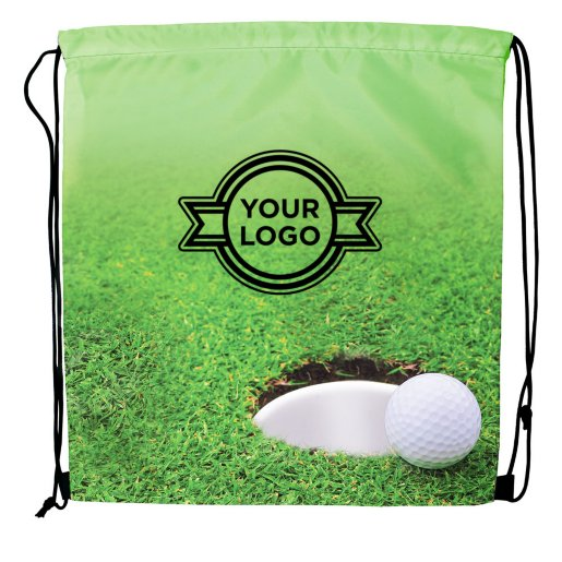 Sport Themed Drawstring Backpack - Golf