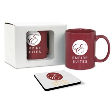 Solid Color Mug & Coaster Gift Set