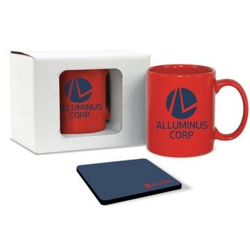 Solid Color Mug & Coaster Gift Set