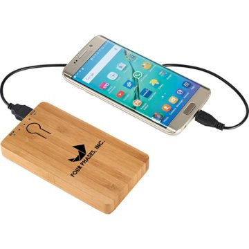 5000 mAh Bamboo Power Bank