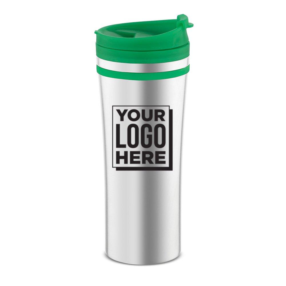 Budget Stainless Steel Stripe Travel Mug