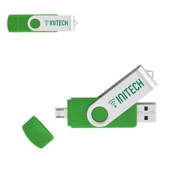 2 GB On The Go USB 2.0 2 Port Flash Drive