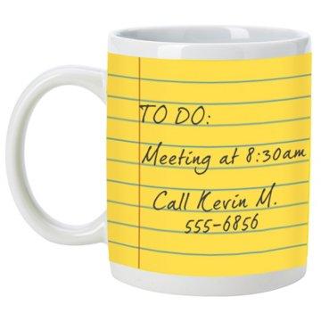 Notepad Mug