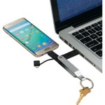 MFi Apple Certified Dual Lightning Micro Cable Keychain