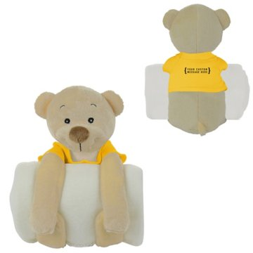 Soothing Children's Blanket and Stuffed Bear Animal Combo