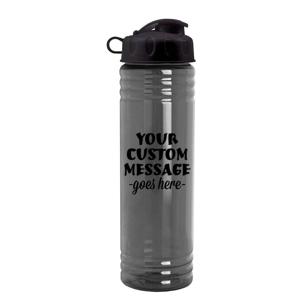 24oz Slim Water Bottle with Flip-Top