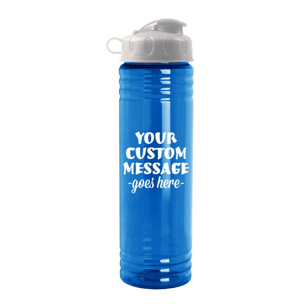 0fc158d628 24oz Slim Water Bottle with Flip-Top | Pure Promo