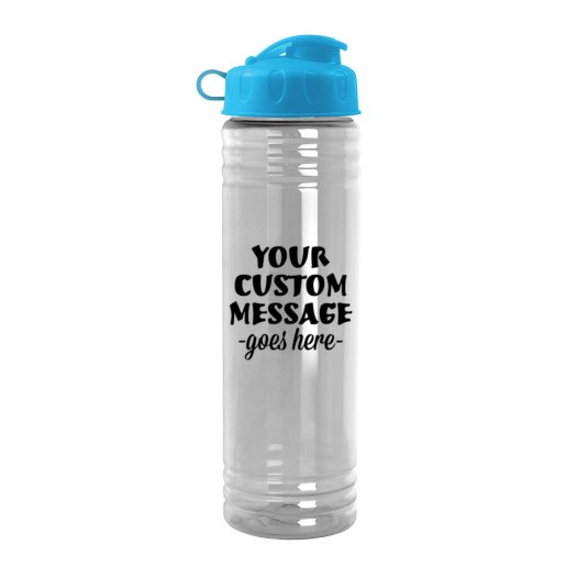24oz Slim Water Bottle with Flip-Top