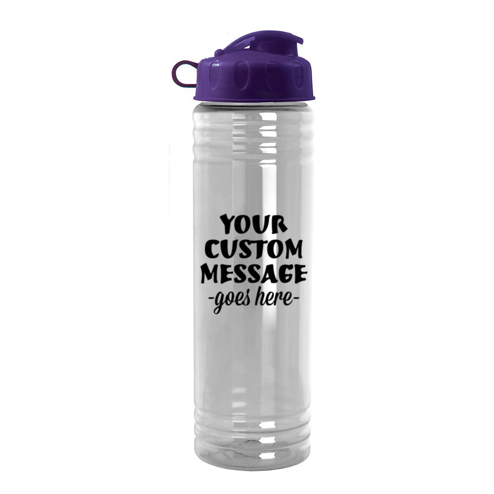 24oz Slim Water Bottle with Flip-Top | Pure Promo