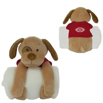 Soothing Children's Blanket and Dog Stuffed Animal Combo