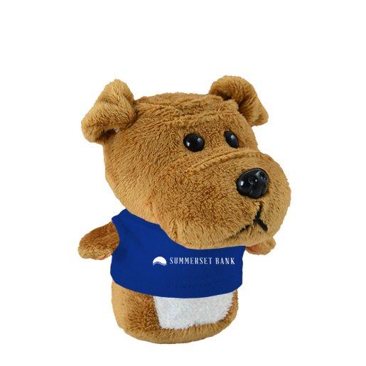 Shorties Desktop Bulldog Stuffed Animal Pure Promo