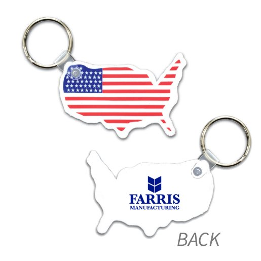 USA Key Fob w/ Flag Key Chain