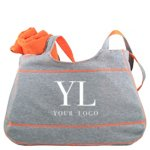 Heathered Jersey Tote and Towel Set