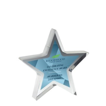 Prismatic Star Acrylic Award