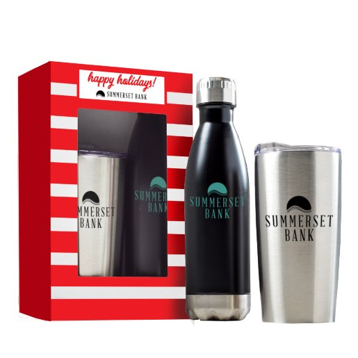 Customizable Tumbler and Water Bottle Gift Set - Window