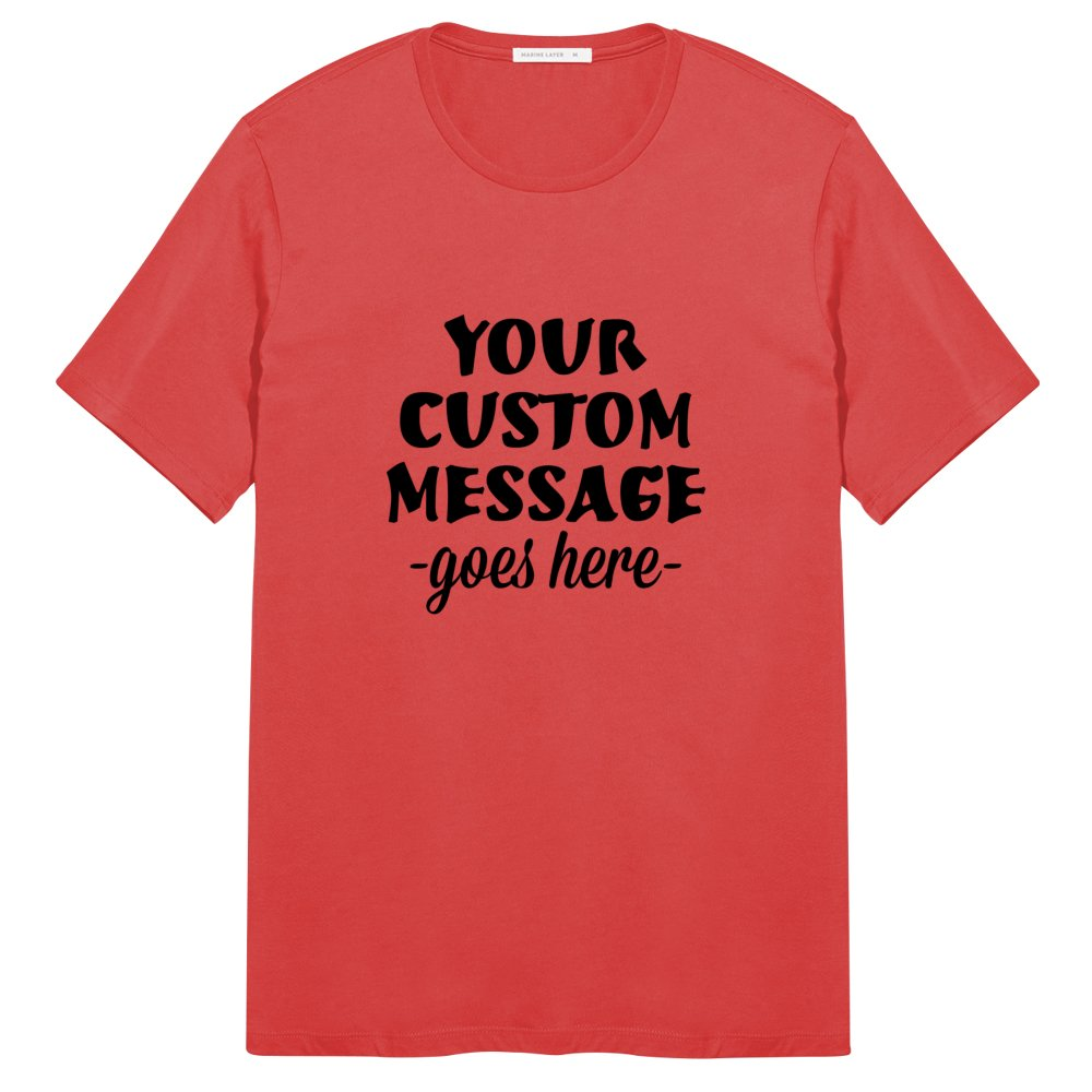 Marine Layer Men's Custom Color Crew Neck Tee