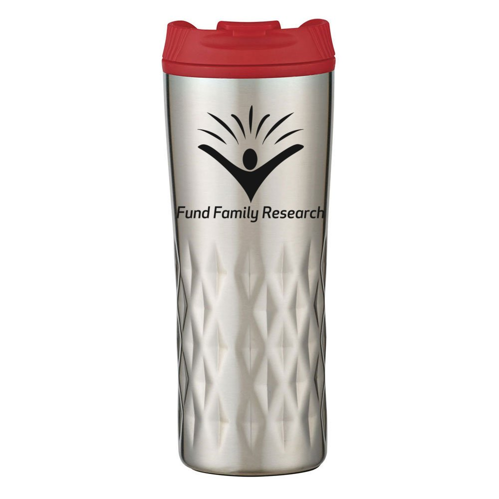 Textured Stainless Steel Travel Mug