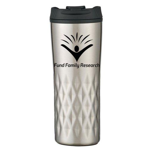 Textured Stainless Steel Travel Mug