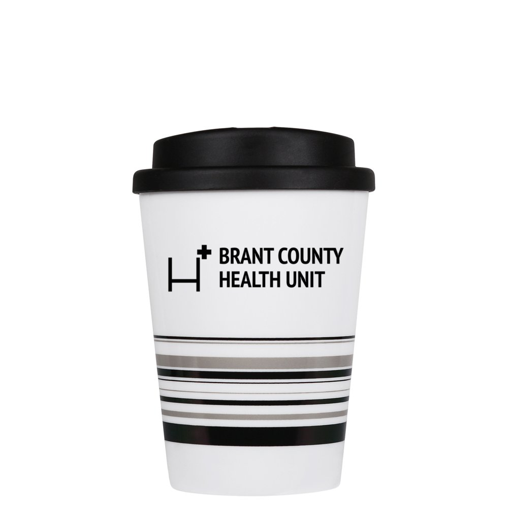 Striped Coffee Cup