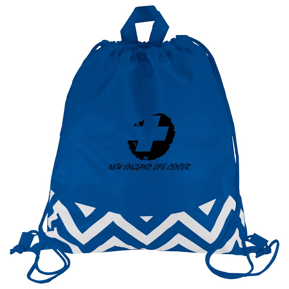 Zig Zag Drawstring Backpack
