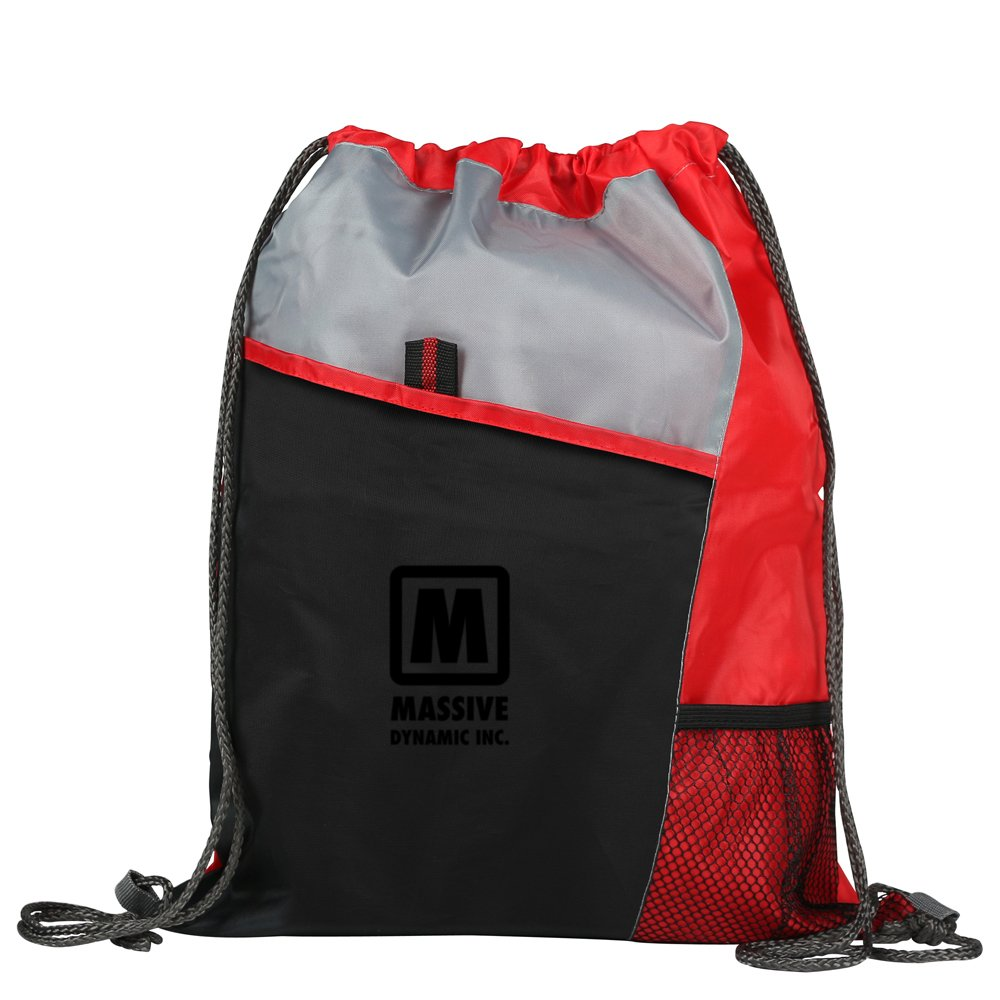 Sporty Pocket Drawstring Backpack