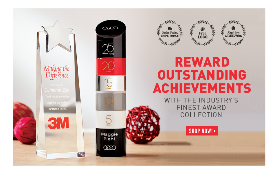 Reward Outstanding Achievements with the Industry's Finest Award Collection