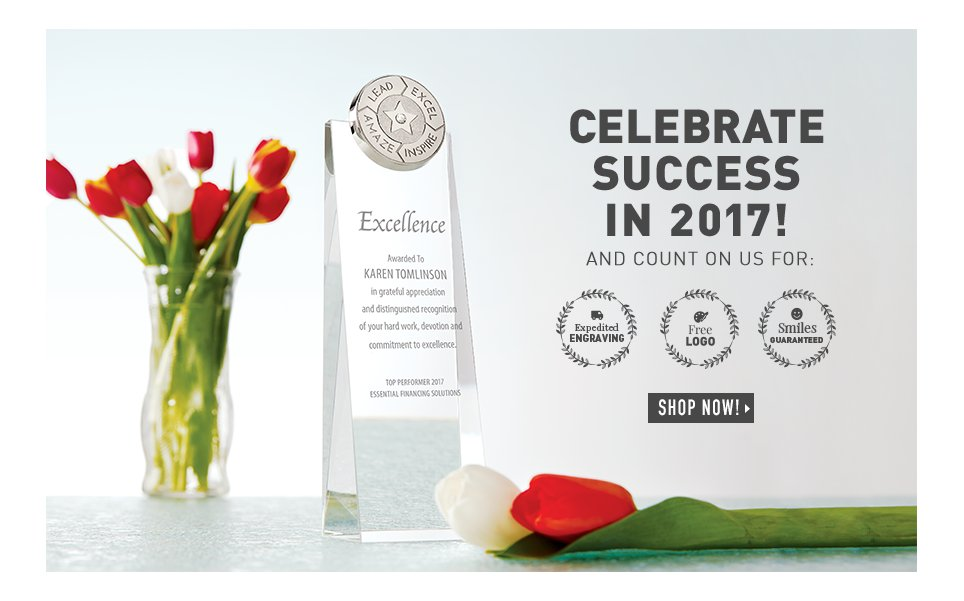 Celebrate Success in 2017 with Stunning Trophies!
