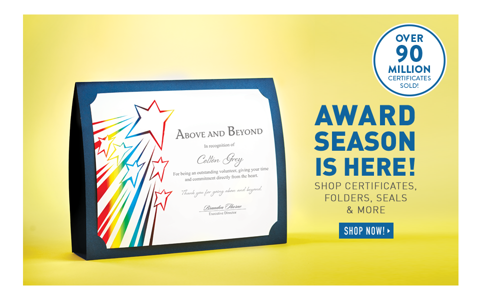 Recognition gifts and custom awards at baudville shop certificates folders sales more yadclub Choice Image