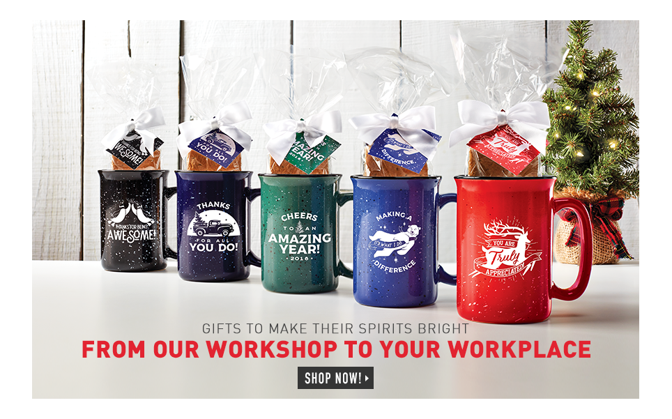 Gifts to make their spirits bright from our workshop to your workplace